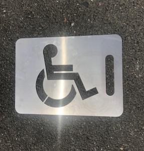 Pochoir pour place de parking PMR - Devis sur Techni-Contact.com - 2