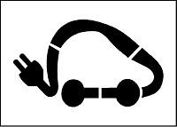Pochoir voiture électrique pour marquage - Devis sur Techni-Contact.com - 1