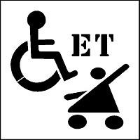 Pochoirs handicap pour marquage - Devis sur Techni-Contact.com - 3