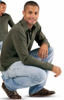 Polo personnalisé manches longues homme jersey - Devis sur Techni-Contact.com - 1