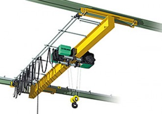 Pont roulant suspendu poutrelle en acier profilé et normalisé - Devis sur Techni-Contact.com - 1