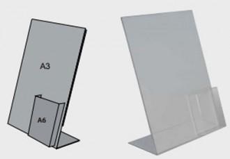Porte affiche brochure A6 - Devis sur Techni-Contact.com - 1