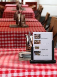 Porte affiche de table en bois - Devis sur Techni-Contact.com - 1
