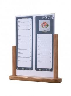 Porte affiche de table en bois - Devis sur Techni-Contact.com - 5