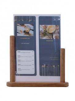 Porte affiche de table en bois - Devis sur Techni-Contact.com - 6