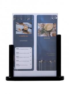 Porte-affiche de table en bois noir - Devis sur Techni-Contact.com - 3