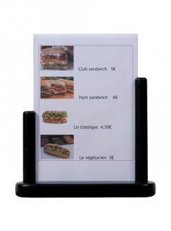 Porte-affiche de table en bois noir - Devis sur Techni-Contact.com - 4