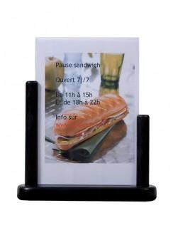 Porte-affiche de table en bois noir - Devis sur Techni-Contact.com - 5