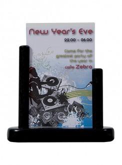 Porte-affiche de table en bois noir - Devis sur Techni-Contact.com - 6