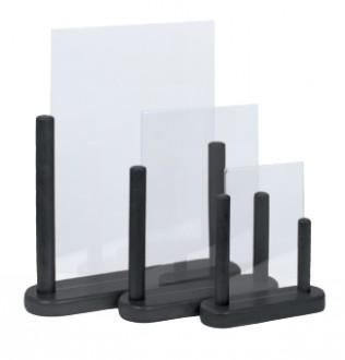 Porte-affiche de table en bois noir - Devis sur Techni-Contact.com - 8