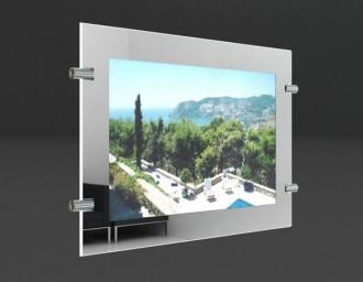 Porte affiche led châssis Miroir - Devis sur Techni-Contact.com - 1