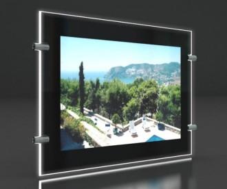 Porte affiche led châssis noir laqué - Devis sur Techni-Contact.com - 1