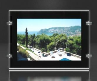 Porte affiche led châssis noir laqué - Devis sur Techni-Contact.com - 2