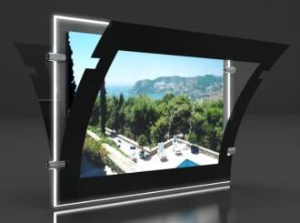 Porte affiche led châssis noir laqué - Devis sur Techni-Contact.com - 3