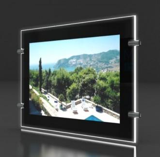 Porte affiche led châssis noir laqué - Devis sur Techni-Contact.com - 4