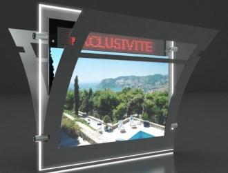 Porte affiche LED dynamique double face - Devis sur Techni-Contact.com - 3