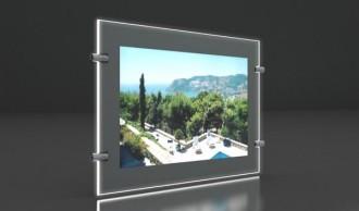 Porte affiche Led silver double face - Devis sur Techni-Contact.com - 1