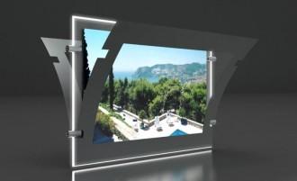 Porte affiche Led silver double face - Devis sur Techni-Contact.com - 3