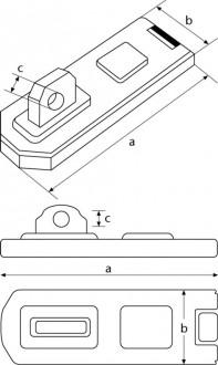 Porte cadenas acier haute sécurité longueur 100 mm - Devis sur Techni-Contact.com - 2