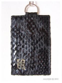 Porte-cartes en cuir avec attache mousqueton - Devis sur Techni-Contact.com - 1
