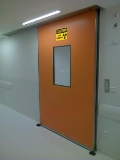 Porte coulissante anti rayons X - Devis sur Techni-Contact.com - 1