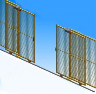 Porte de sécurité grillagée coulissante - Devis sur Techni-Contact.com - 1