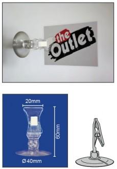 Porte étiquette à pince avec ventouse - Devis sur Techni-Contact.com - 1