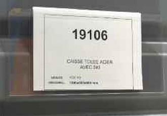 Porte-étiquettes transparents avec retour - Devis sur Techni-Contact.com - 1