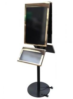 Porte menu 2 faces 4 plateaux - Devis sur Techni-Contact.com - 1