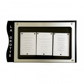 Porte menu cevennes 3 pages - Devis sur Techni-Contact.com - 1