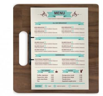 Porte-menu en bois de noyer laqué A4 - Devis sur Techni-Contact.com - 2