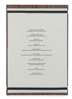 Porte-menu en bois de noyer laqué A4 - Devis sur Techni-Contact.com - 3