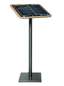 Porte-menu en bois sur pieds - Devis sur Techni-Contact.com - 1