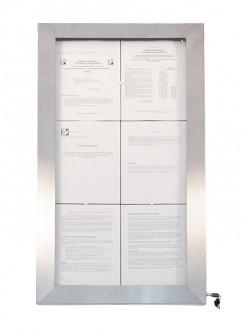Porte menu en inox à affichage LED - Devis sur Techni-Contact.com - 2