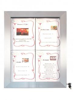 Porte menu en inox à affichage LED - Devis sur Techni-Contact.com - 3