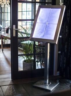 Porte menu en inox à affichage LED - Devis sur Techni-Contact.com - 4