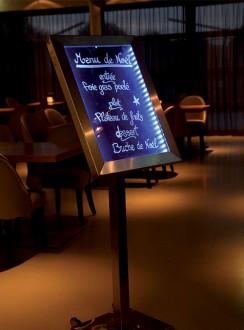 Porte menu en inox à affichage LED - Devis sur Techni-Contact.com - 5