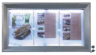 Porte menu extérieur affichage LED - Devis sur Techni-Contact.com - 3