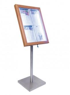Porte menu LED 4 x A4 - Devis sur Techni-Contact.com - 1
