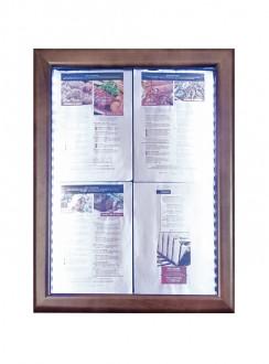 Porte menu LED 4 x A4 - Devis sur Techni-Contact.com - 2