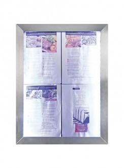 Porte menu LED 4 x A4 - Devis sur Techni-Contact.com - 3