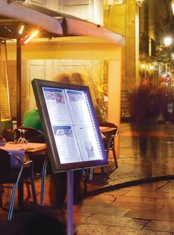 Porte menu LED 4 x A4 - Devis sur Techni-Contact.com - 4