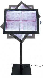 Porte menu LED sur pied - Devis sur Techni-Contact.com - 2
