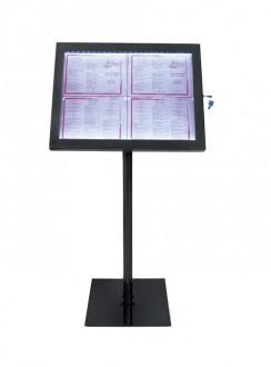Porte menu LED sur pied - Devis sur Techni-Contact.com - 3
