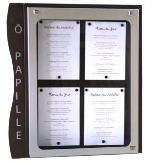 Porte menu mural pour extérieur 4 pages - Devis sur Techni-Contact.com - 1