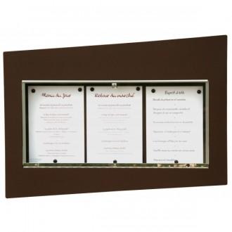Porte menu sheffield 3 pages A4 - Devis sur Techni-Contact.com - 1