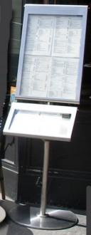 Porte-menu sur pied 2 plateaux 4 A4 2 A5 - Devis sur Techni-Contact.com - 3