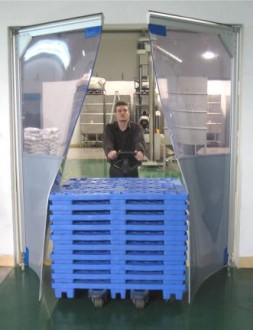 Porte souple et transparente à vantaux pvc - Devis sur Techni-Contact.com - 2
