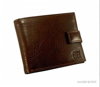 Portefeuille avec languette en cuir marron - Devis sur Techni-Contact.com - 1