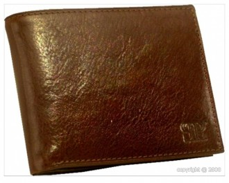 Portefeuille en cuir marron pour homme - Devis sur Techni-Contact.com - 1